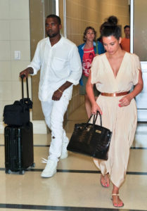 Kanye and Kim with Rimowa