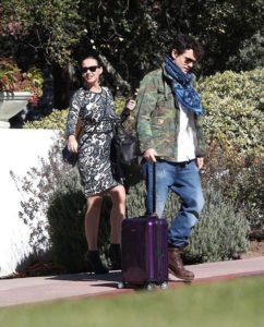Katy Perry and John Mayer with Rimowa Salsa Air
