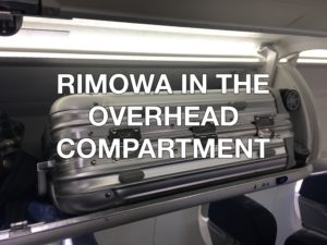 Rimowa overhead compartment