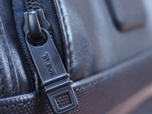 Tumi Alpha 2 backpack leather zipper