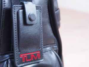 Tumi Alpha 2 backpack leather luggage tag