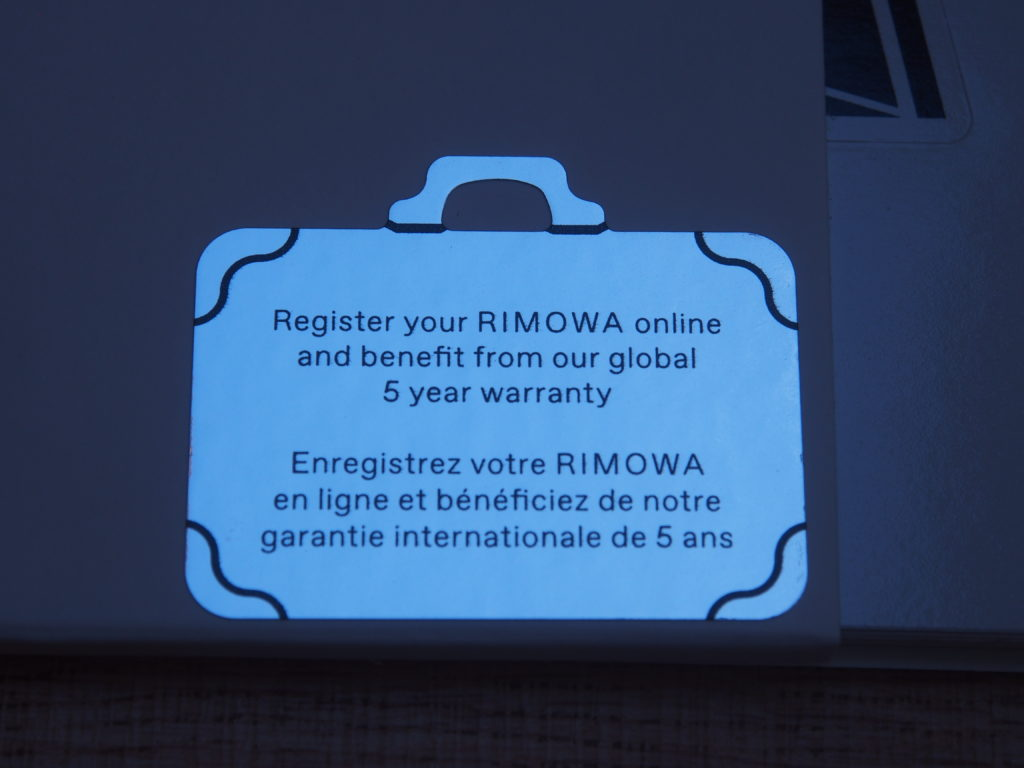 Rimowa Warranty