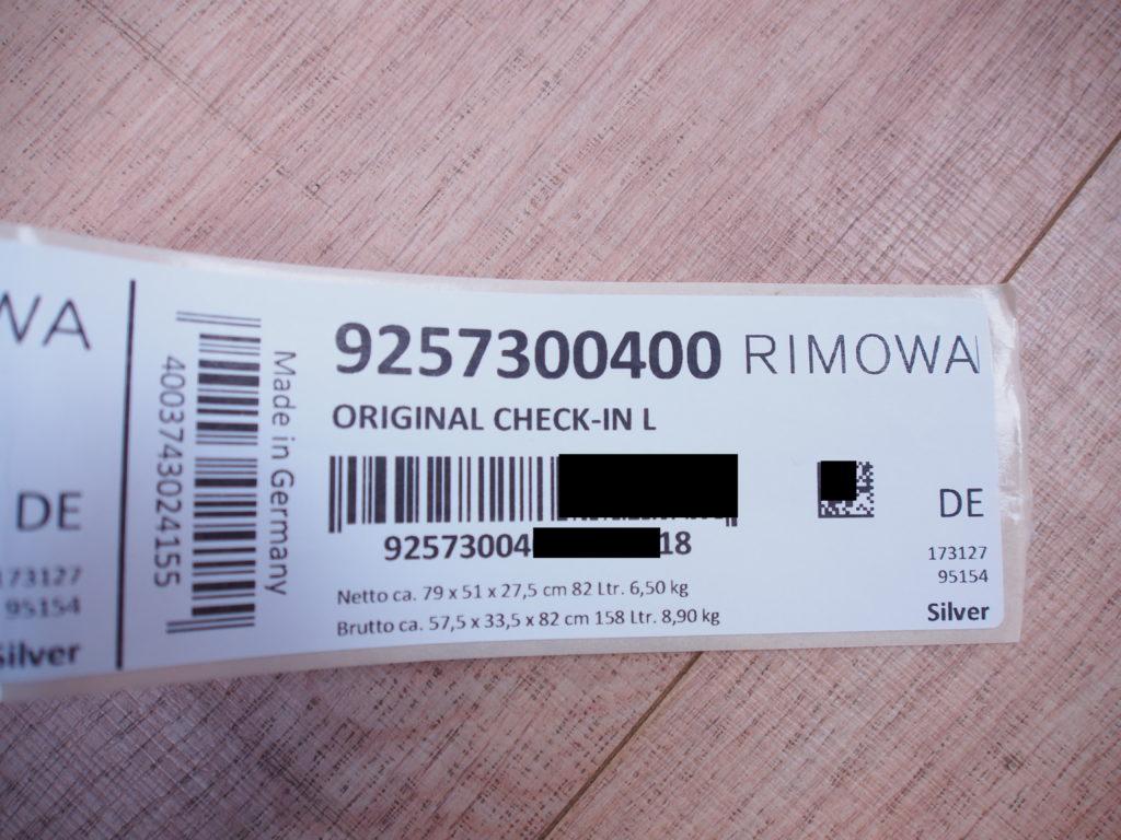 Rimowa Original Check-In L Label