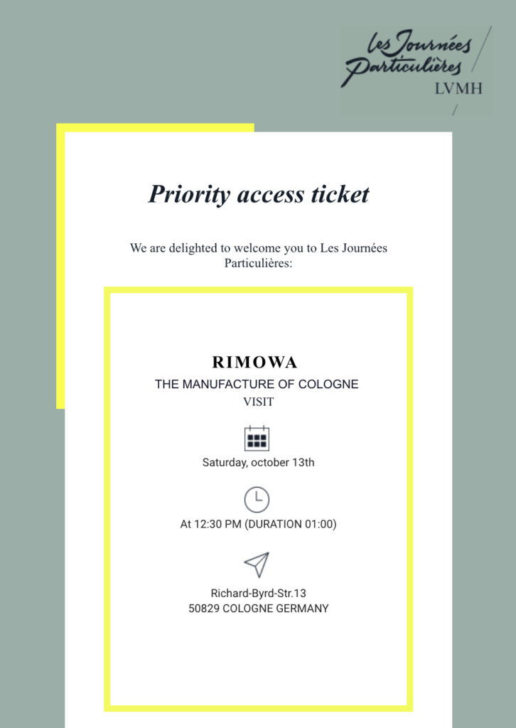 Priority access ticket