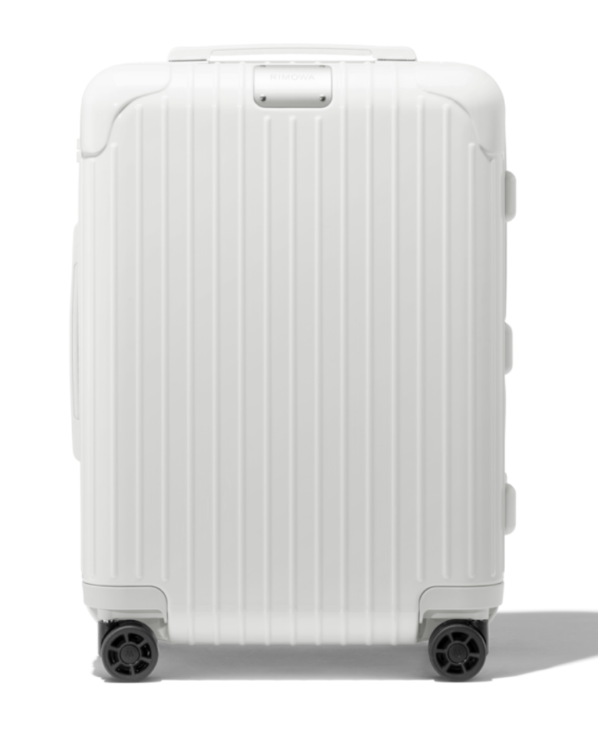 Rimowa Essential Cabin White. Model used for Rimowa x Off-White